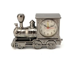 Vintage Fashion Train Shape Alarm Clock Decoration Quartz Movement