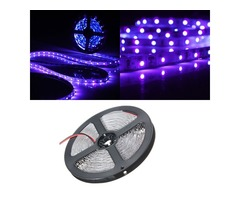 0.5/1/2/3/4/5M 3528 UV Ultraviolet Purple Non-Waterproof Strip Lamp Black Light 12V