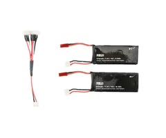 Hubsan H502S H502E RC Quadcopter Spare Parts 2 x 7.4V 15C 610mAh Battery& Charging Cable Set