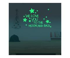 24x35cm We Love You Luminous Stars Wall Stickers Home Wall Decor Decor Glow In The Dark