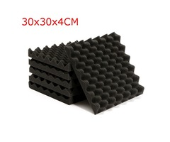 6Pcs 30x30x4cm Soundproofing Triangle Sound-Absorbing Noise Foam Tiles