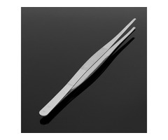 30cm Stainless Steel Silver Long Tongs Straight Tweezers Tool