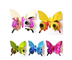 12PCS 5 Colors 3D Mirror Surface Butterfly Wall Sticker Fridge Magnet Home Decor Art Applique