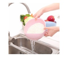 Vegetable Basin Wash Rice Sieve Thickening Wheat Straw Clean Rice Machine Fruit Bowl Basket Kitchen