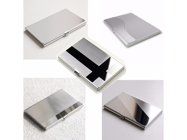 Stainless steel business id credit card holder name card wallet stainless steel business id credit card holder name card wallet metal pocket box case holder reheart Gallery