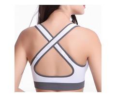Stretch Anti-Bacterial Running Fitness Yoga Bra Sportswear