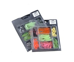 LEO 52Pcs Fishing Lures Lead Hooks Soft Bait Set Bass Lure Tackle
