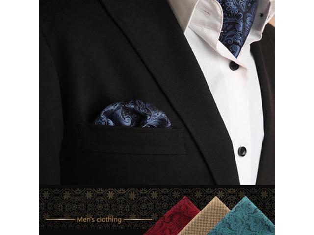 Fashion Handkerchief For Men Suit Western Style Dot Paisley Pocket Square Tie Handkerchiefs