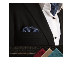 Fashion Handkerchief for Men Suit Western Style Dot Men Paisley Pocket Square Tie Handkerchiefs