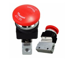 2 Way 2 Position Pneumatic Mechanical Valve 1/8 Inch Thread Push-button Switch Valve