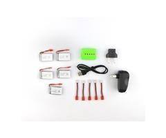 Syma X5HC X5HW RC Quadcopter Spare Parts 5Pcs 3.7V  500MAH 25C Battery And Charger Set X5A-A12