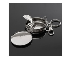 Stainless Steel Ashtray with Keyring for Cigar Cigarette Weed Tobacco EDC Gaget