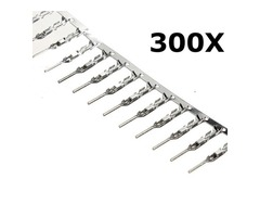 300 Pcs 2.54mm Dupont Jumper Wire Cable Male Pin Connector Terminal