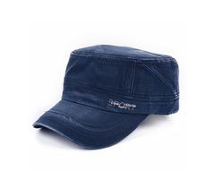 Vintage Military Men Outdoor Cotton Blend Plain  Army Hat Adjustable Flat Cap