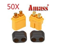50X Amass XT60+ Plug Connector With Sheath Housing Male & Female 1 Pair