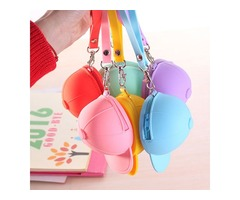 Honana HN-B2 Creative Cute Silicone Wallet Candy Color Key Bag Baseball Cap Hat Coin Bag Organizer