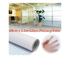 60cm 1.2M Frosted Window Tint Glass Privacy PVC Film For Home Office