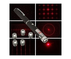 6 in 1 1mw Powerful Visible Beam Red Laser Pointer Pen With 5 Pattern Caps