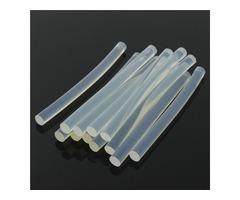 12Pcs 7×100mm Transparent White Hot Melt Glue Stick Strips