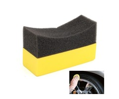 1Pcs EVA Car Tyre Tire Curved Foam Sponge Auto Truck Soft Clean Wash Clearning Pad