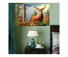 Frameless 5D Diamond Painting Forest Deer DIY Embroidery Home Decoration