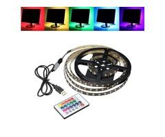 1M 2M 3M 4M Waterproof 5050 RGB LED USB Strip Light TV Backlilghting Kit + 24Key Remote