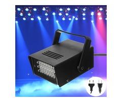 Mini 24LED Blue Flashing Strobe Party Stage Light Disco Club DJ Effect Lighting AC220V