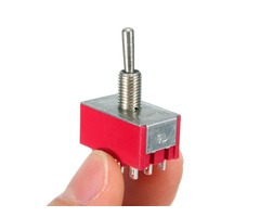 250V 2A 12Pin 3 Speed Toggle ON-OFF Switch Automatic Reset Rocker Power Button