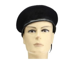 Unisex Vintage Military Soldier Army Hat Wool Beret Beanie Cap