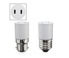 B22/E27 Light Lamp Bulb Adapter Socket Holder Convert to US Power Female Outlet