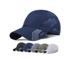 Mens Thin Breathable Quick Dry Hats Outdoor Baseball Caps