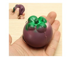 Squishy Mangosteen Tropical Fruit Squishy 5.5*5cm Key Chain Phone Bag Strap Pendant Decor Gift