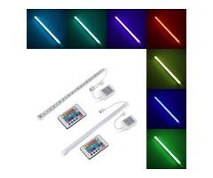 30CM RGB SMD 5050 LED Aluminum Alloy Shell Under Cabinet Lamp Strip Hard Rigid Light Tube Bar DC12V