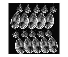 38MM 10Pcs Clear Crystal Chandelier Lamp Parts Prisms Pendant Light Drops Decor