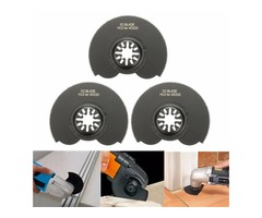 3pcs 88mm High Carbon Steel Semicircle Flush Saw Blades Ocsillating Multitool Accessories