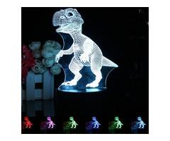3D LED Remote Control Dinosaur Night Light 7 Color Change Desk Table Lamp Gift