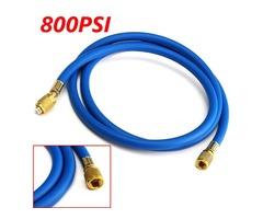 36 Inch 3FT Single Hose HVAC 1/4 Inch SAE 800 PSI Charging AC Refrigerant R410a R134a Hose