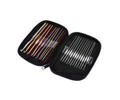 Honana WX-102 22Pcs Set Multi-colour Aluminum Crochet Hooks Needles Knitting Weave Craft Yarn Sewing