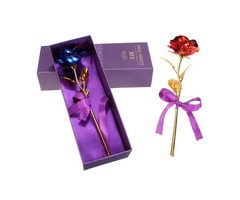 Creative Golden Rose 24K Gold Foil Rose Birthday Wedding Party Gift Flower Home Decor