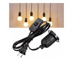 E26/E27 Light Bulb Socket Lamp Holder 250V With 1.5M Power Cable Cord