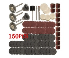 150pcs Rotary Tool Accessory Bit Set Grinding Polishing Accessories for Dremel