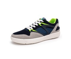 Men Sport Running Outdoor Casual Low Top Comfortable Lace Up Suede Athletic Flats Shoes