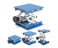 4inch Aluminum Lifting Platforms Stand Rack Scissor Lab-Lifting Oxide Lab Jack Stand Scissor Utility