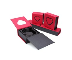 Red Cardboard Ring Bracelet Necklace Charm Gift Case Jewelry Box