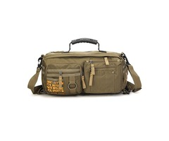 Men Oxford Leisure Crossbody Bag Capacity Multifunction Outdoor Travel Hiking Backpack Handbag