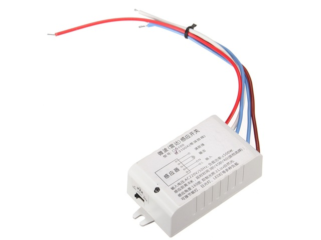 220V Auto Motion Sensor Sensing Switch Microwave Radar Sensor with Fire Line | FreeAds.info