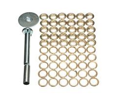 63pcs Tarpaulin Buckle Corn Deduction Canvas Ring Repair Tool Kit