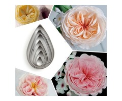 7Pcs Rose Petal Stainless Steel Cookie Cutter Mold Biscuit Fondant Cutter Cake Decorating Tool
