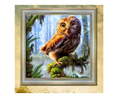 30x30cm 5D DIY Owl Diamond Painting Resin Full Rhinestone Home Decoration Animal Cross Stitch Kit