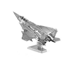DIY 3D Puzzle Stainless Steel Assembled Model F-15 Eagle Silver Color